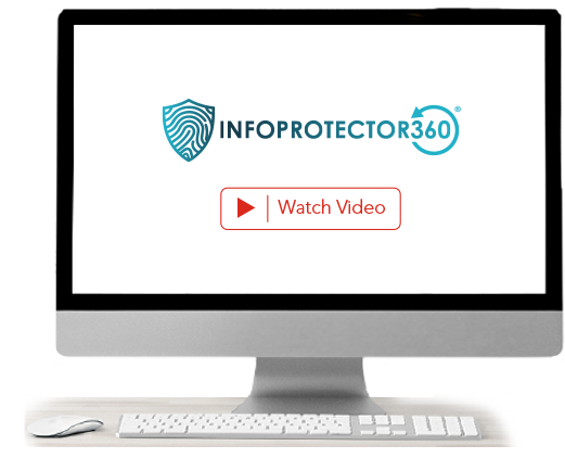 Computer screen contains a video about InfoProtector® Plus. Click for more details.
